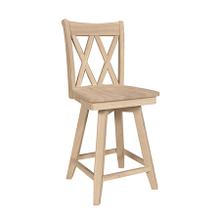 S-202SWB 24'' XX Back Swivel stool