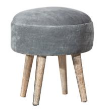 Mila Vanity Stool - Gray