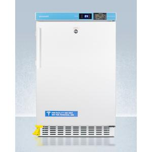 """SummitPharmacy Series ADA Compliant 20"""" Wide Built-in Undercounter All-refrigerator for Vaccine Storage, Frost-free With Step-to-open Door Pedal, Internal Fan, External Digital Controls and Thermometer, and Lock"""