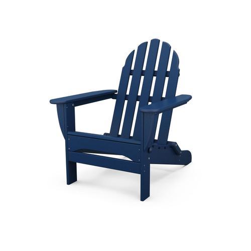 Navy Classic Folding Adirondack Chair