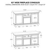 Howard Miller Fireplace Custom TV Console FP63A Product Image