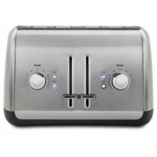 KitchenAid - 4-Slice Toaster with Manual High-Lift Lever - Brushed Stainless Steel