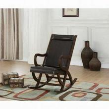 ACME Triton Rocking Chair - 59535 - Espresso PU & Walnut