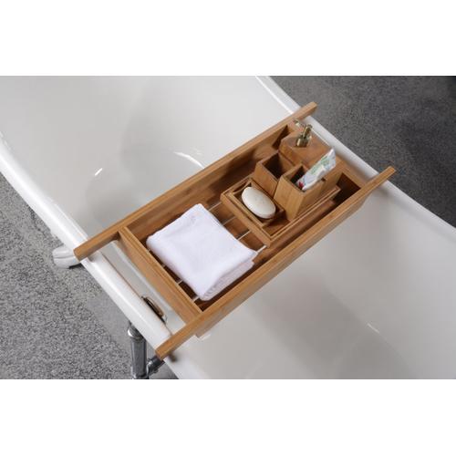"33"" Bamboo Tub Caddy Shelf"