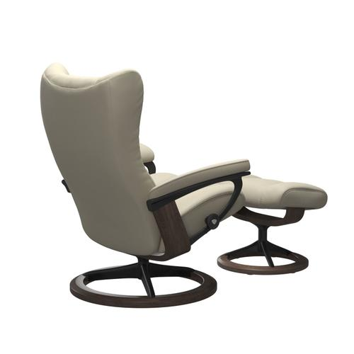 Stressless By Ekornes - Stressless® Wing (L) Signature chair with footstool