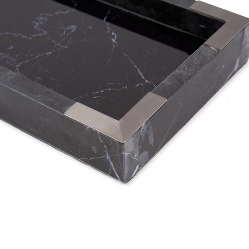 Howard Elliott - Black Mirrored Marble Tray