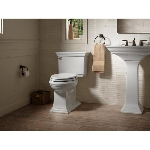 Black Black Two-piece Elongated 1.28 Gpf Chair Height Toilet