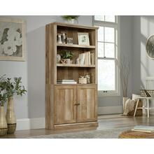 Farmhouse Style 5-Shelf Bookcase with Doors