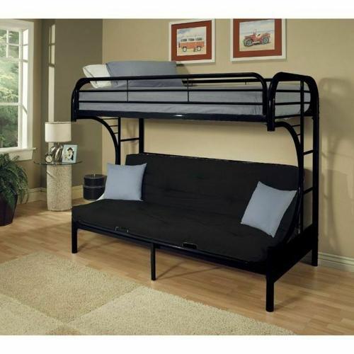 ACME Eclipse Twin XL/Queen/Futon Bunk Bed - 02093BK - Black