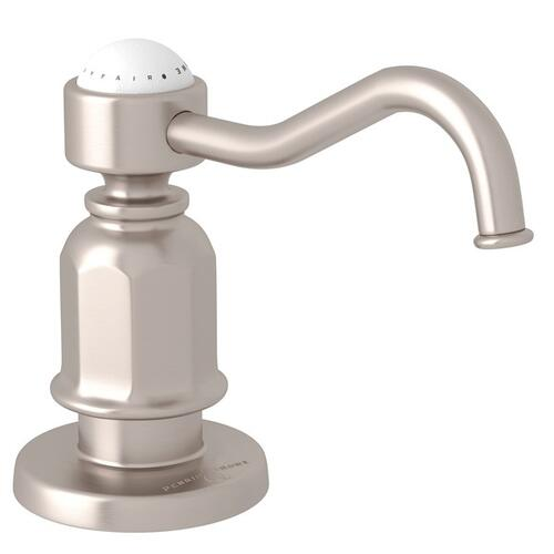 Satin Nickel Perrin & Rowe Traditional Deck Mount Soap Dispenser