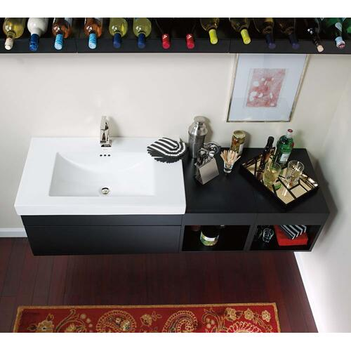 "Ronbow - Rebecca 31"" Wall Mount Bathroom Vanity Base Cabinet in Black"