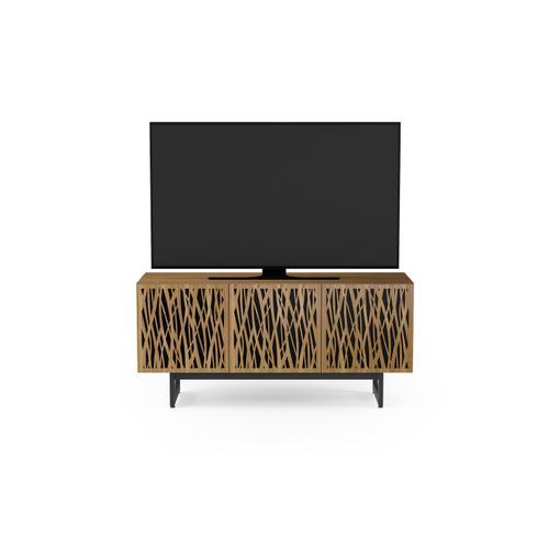 BDI Furniture - Elements 8777 Media Media Cabinet in Wheat Doors Natural Walnut