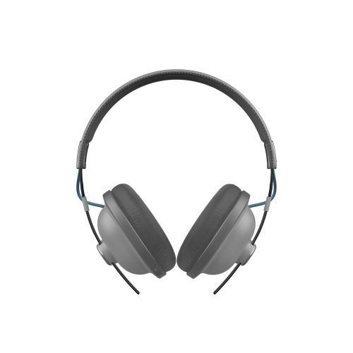 Retro Over-Ear Bluetooth®, 24-Hour Playback Headphones - Matte Steel - RP-HTX80B-H
