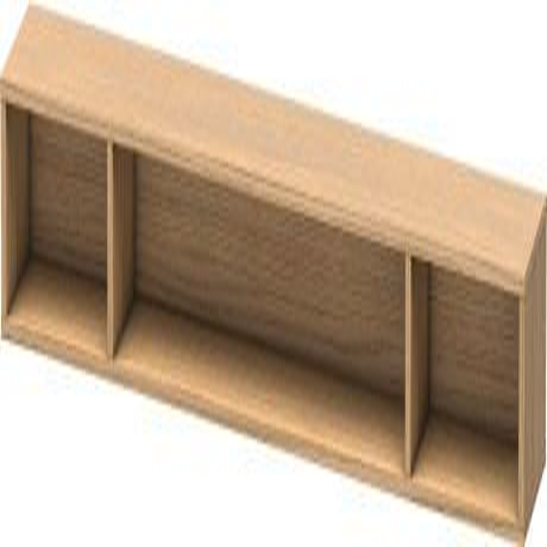 Shelf Element (horizontal), European Oak (decor)