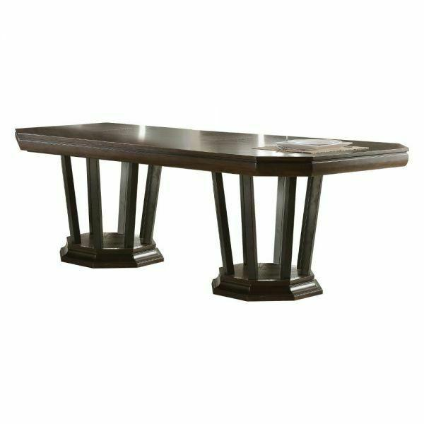 ACME Selma Dining Table w/Double Pedestal - 64090 - Tobacco