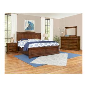 Sleigh Bed with Storage Footboard