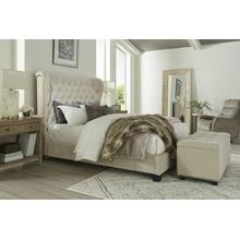 View Product - CHLOE - MERINGUE Queen Bed 5/0