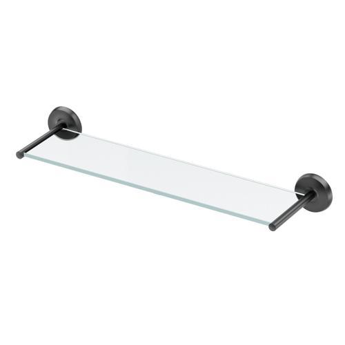 Designer II Glass Shelf in Matte Black