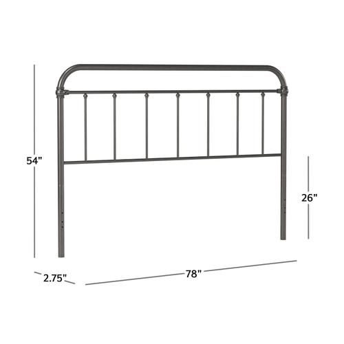 Kirkland Metal King Headboard Without Frame, Aged Pewter