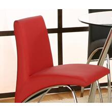 Mensa Red Stl Seat & Back 4pk