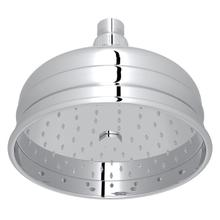 "Polished Chrome 6"" Bordano Rain Anti-Calcium Showerhead"