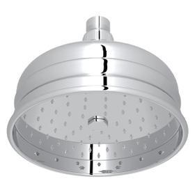 "Polished Chrome 6"" Bordano Rain Anti-Calcium Showerhead"