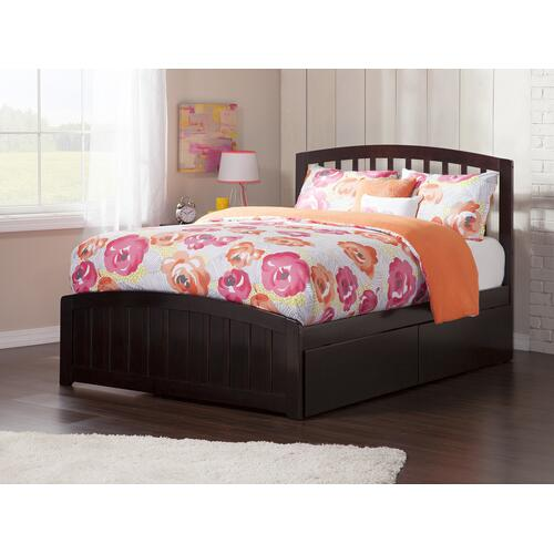 Richmond Full Bed with Matching Foot Board with 2 Urban Bed Drawers in Espresso