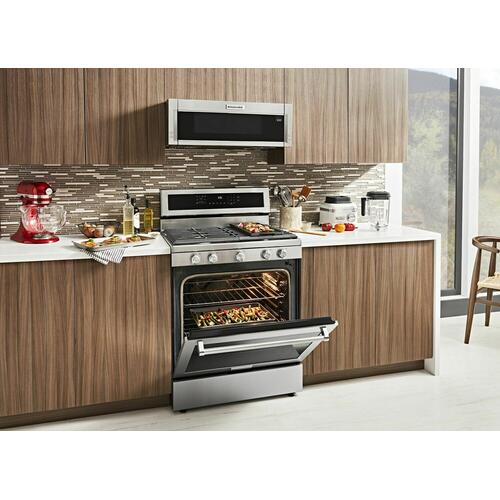 KitchenAid - 30-Inch 5-Burner Gas Convection Range - Stainless Steel