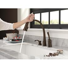 Single Handle Pull-Down Kitchen Faucet with Touch 2 O ® Technology and Soap Dispenser