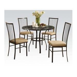 "Acme Furniture Inc - 36""dia Bk 5pc Pack Dining Set"