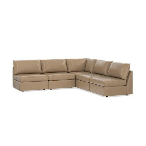 Beckham Leather L-Shaped Sectional