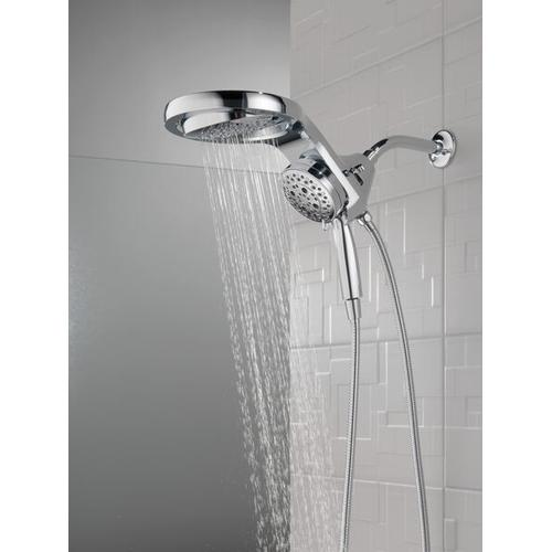 Champagne Bronze HydroRain ® H 2 Okinetic ® 5-Setting Two-in-One Shower Head