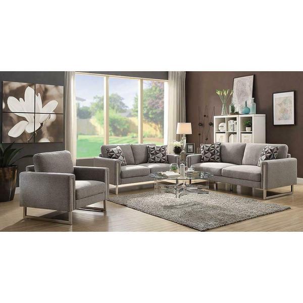 See Details - Stellan Contemporary Grey Sofa