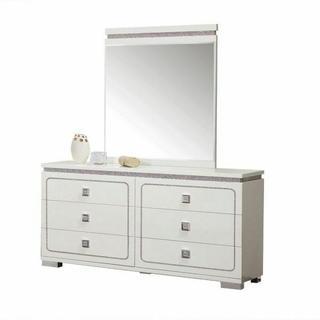 ACME Valentina Mirror - 20254 - White High Gloss