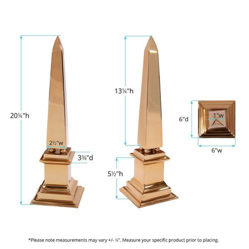 Howard Elliott - Gold Stainless Steel Obelisk