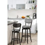 Sloan Swivel Bar Stool - Black Pewter Product Image