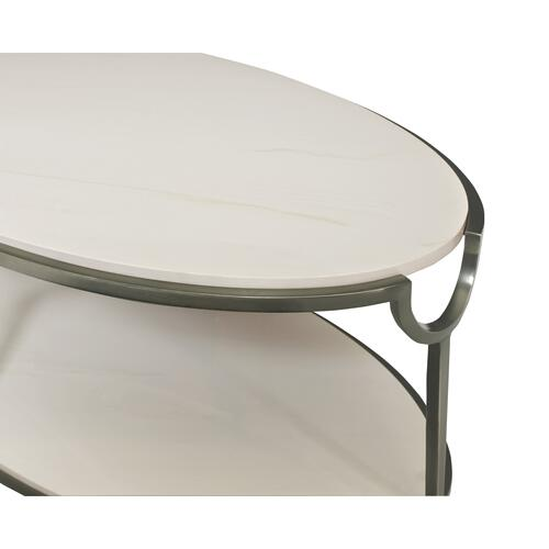 Morello Oval Metal Cocktail Table