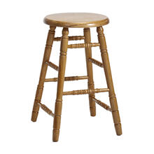 See Details - Classic Oak Chestnut Backless Counter Stool