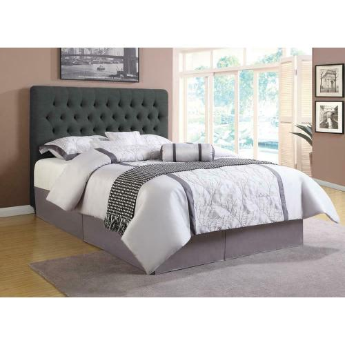 Chloe Transitional Charcoal Upholstered California King Bed