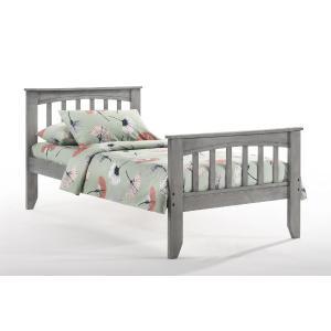 Night and Day Furniture - Sasparilla Bed in Rustic Gray Finish