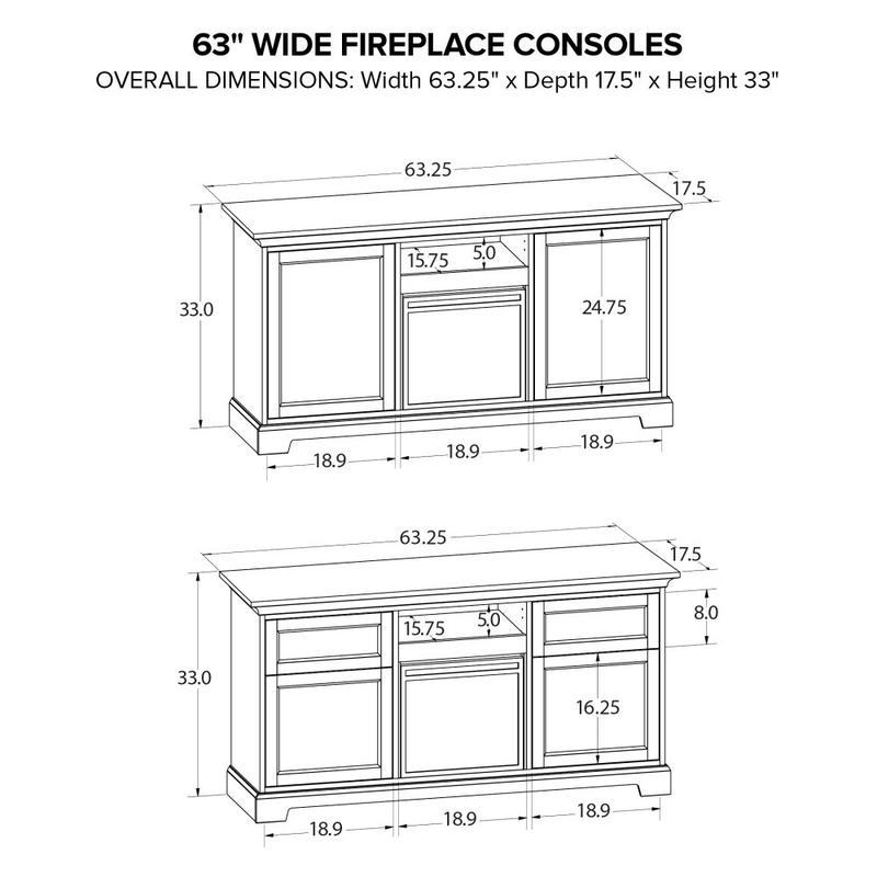 Howard Miller Fireplace Custom TV Console FP63J