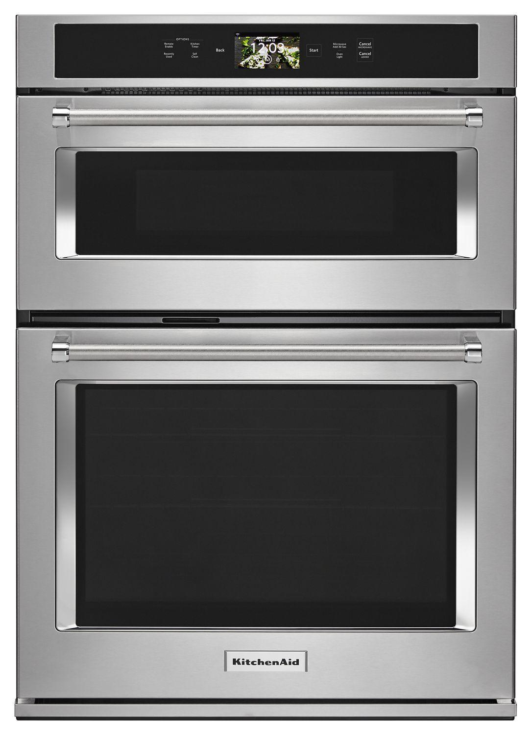 """KitchenaidSmart Oven+ 30"""" Combination Oven With Powered Attachments Stainless Steel"""