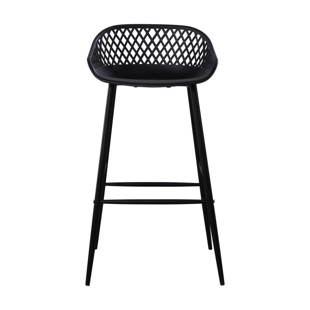 See Details - Piazza Outdoor Barstool Black-m2