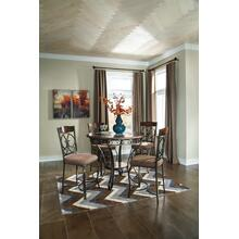 See Details - Glambrey - Brown 4 Piece Dining Room Set