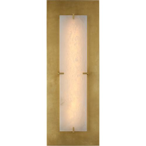 AERIN Dominica LED 10 inch Gild and Alabaster Rectangle Sconce Wall Light, Large