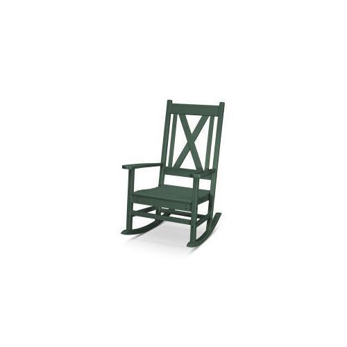 Polywood Furnishings - Braxton Porch Rocking Chair in Green