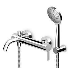Exposed single lever bath-shower mixer with diverter, aerator, handshower set, handshower Z94743. For C3 and N1 fiinishes handshower Z94731.