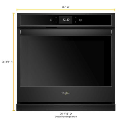 Whirlpool - 5.0 cu. ft. Smart Single Wall Oven with True Convection Cooking Black