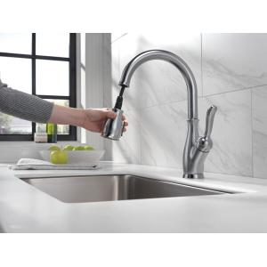 Delta Faucet Company - Arctic Stainless Single Handle Pull-Down Kitchen Faucet with ShieldSpray ® Technology