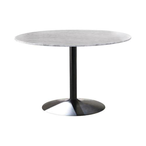 Modern White and Black Dining Table